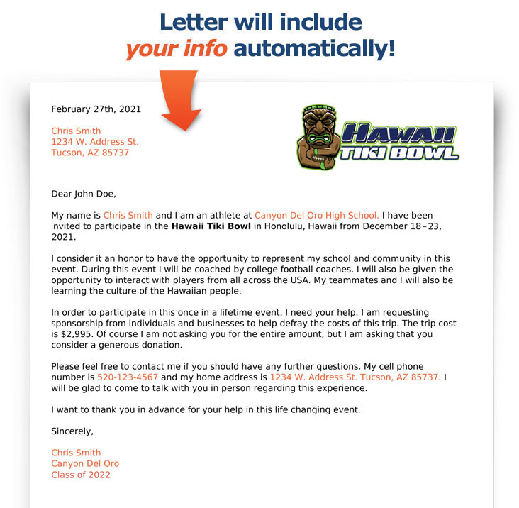 Example Fundraising Letter